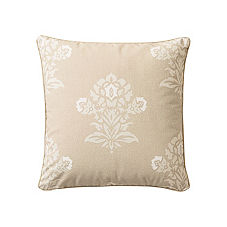 White/Putty Jaipur Pillow Cover
