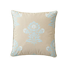 Jaipur Pillow Cover – Aqua/Putty