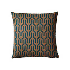 Kuba Pillow Cover – Emerald/Bronze