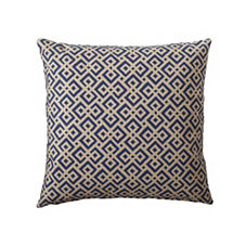Navy Lattice Pillow Cover