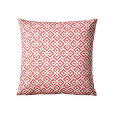 Lattice Pillow Cover – Coral