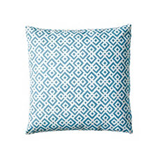Lattice Pillow Cover – Aqua