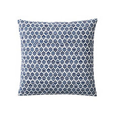 Leaf Pillow Cover – Navy