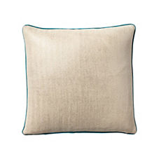 Metallic Herringbone Pillow Cover – Silver/Peacock