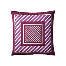 Frame Stripe Pillow Cover – Aubergine