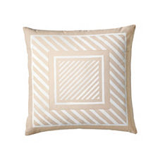 Frame Stripe Pillow Cover – Bisque