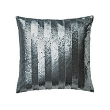 Sequin Stripe Pillow Cover – Silver