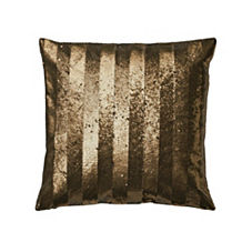Sequin Stripe Pillow Cover – Gold