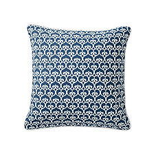 Navy Spade Pillow Cover