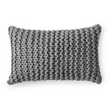 Alicia Adams Alpaca Links Knit Pillow Cover – Heathered Grey