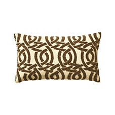 Beaded Highland Knot Pillow Cover – Gold