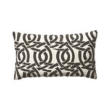 Beaded Highland Knot Pillow Cover – Silver