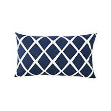 Diamond Lumbar Pillow Cover – Navy