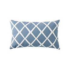 Diamond Lumbar Pillow Cover – Chambray