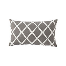 Diamond Lumbar Pillow Cover – Pewter