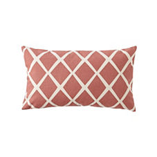 Diamond Lumbar Pillow Cover – Coral