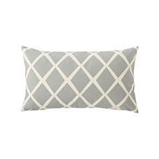 Diamond Lumbar Pillow Cover – Fog