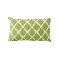 Diamond Lumbar Pillow Cover – Leaf