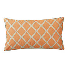 Saffron/Putty Diamond Lumbar Pillow Cover
