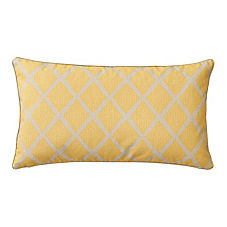 Mustard/Putty Diamond Lumbar Pillow Cover