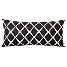 Diamond Lumbar Pillow Cover – Black