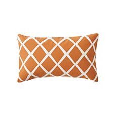Diamond Lumbar Pillow Cover – Saffron