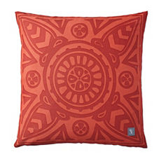 Poppy Scarf Print Outdoor Pillow