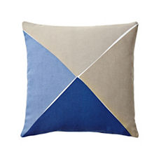 Maritime Outdoor Pillow Cover – Chambray/Bark