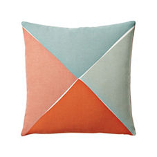 Maritime Outdoor Pillow Cover – Celadon/Coral
