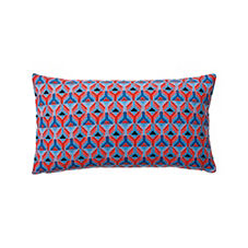 Rockport Outdoor Pillow Cover – Chambray/Tomato
