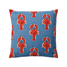 Lobster Outdoor Pillow Cover – Chambray