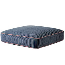 Tiny Vine Floor Pillow - Navy
