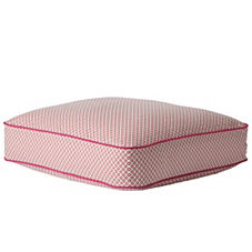 Cut Circle Floor Pillow – Coral