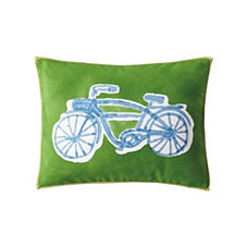 Bicycle Pillow - Kelly Green