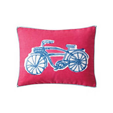 Bicycle Pillow - Bright Strawberry