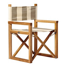 Director's Chair – Khaki/Natural Awning Stripe Sunbrella