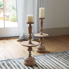 Turned Wood Candleholder