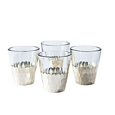 Plated Glass Votives – Silver (Set of 4)