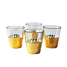 Plated Glass Votives – Gold (Set of 4)