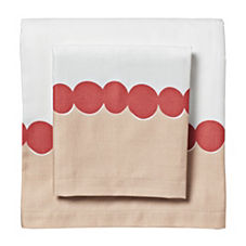 Deep Coral Deco Dot Sheet Set
