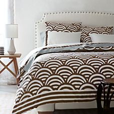 Chocolate Lamu Duvet & Sham