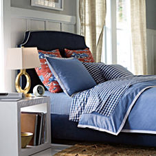 Wainscott Oxford Weave Duvet Cover & Shams – Chambray Blue
