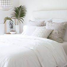 Wainscott Oxford Weave Duvet Cover & Shams – White