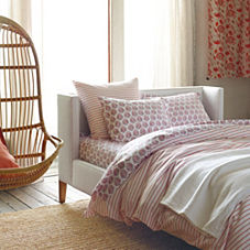 Percy Stripe Duvet Cover & Sham – Coral