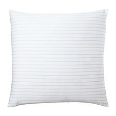 Percy Stripe Euro Sham – Light Bark