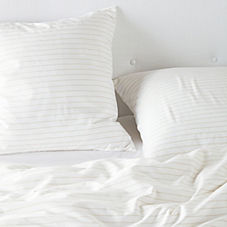Percy Stripe Duvet Cover & Sham – Light Bark