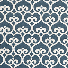 Navy Spade Fabric