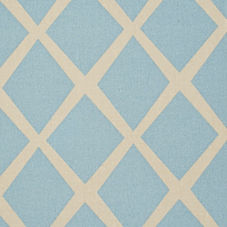 Turquoise/Putty Diamond Fabric