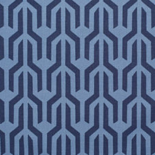 Navy Kuba Fabric Swatch