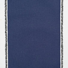 Navy Racing Stripe Fabric